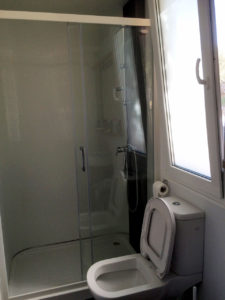 Shower and toilette in KS Holiday Suite mobile house, Jezera, Murter, Dalmatia, Croatia