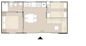 Layout of KS Holiday Suite mobile house, Jezera, Murter, Dalmatia, Croatia