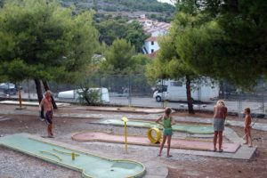 Jezera Village resort whole family can enjoy playing mini golf